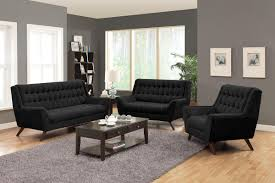 Black Living Room Furniture Sets by Retro Modern Black Chenille Sofa Coaster Natalia Couch Flared