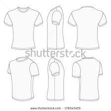 all views men u0027s white short sleeve t shirt design templates front