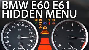 how to enter hidden menu in bmw e60 e61 diagnostic service