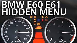 how to enter hidden menu in bmw e60 e61 diagnostic service