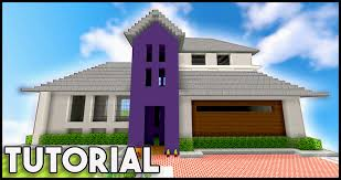 Modern Houses Minecraft Minecraft Big Modern House Mansion Tutorial 1 8 1 9 How To