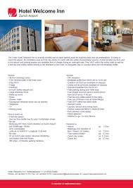 factsheet hotel welcome inn welcome hotels 2017 en by welcome