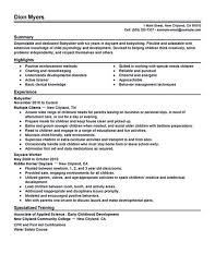 Call Center Customer Service Representative Resume Examples by Babysitter Resume Babysitter Resume Sample Administration Manager