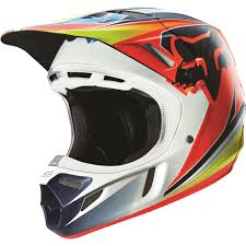 vega motocross helmet fox racing 2016 v4 race helmet blue red available at motocross giant