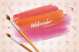 hand painted watercolor spot and paintbrush vector clipart image
