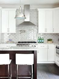 kitchens ideas with white cabinets gray backsplash white cabinets amazing eye catchy hexagon tile ideas