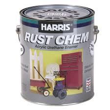 harris rust chem 1 gal gloss urethane black exterior paint 24111