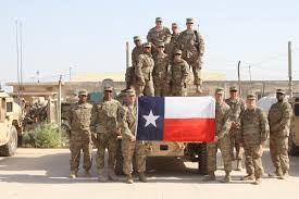 Soldier With Flag Care Packages For Soldiers U S Soldiers Proudly Pose With Texas