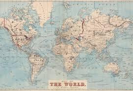 mercury row gilbertson map of the world wall mural u0026 reviews wayfair