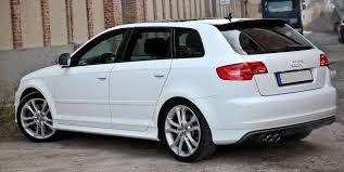 audi rs3 replica audi a3 8p sportback rear bumper spoiler s3 look