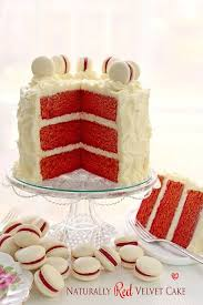 naturally red velvet cake with cream cheese frosting recipe