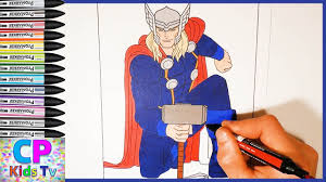 avengers coloring pages part 4 thor avengers coloring pages fun