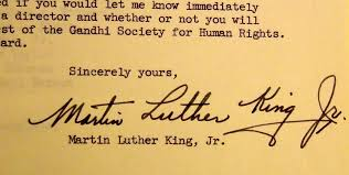 852 rare a letter from martin luther king jr