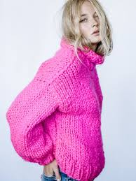 pink sweaters turtleneck get cozy in this chunky turtleneck sweater