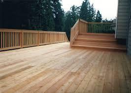 clear cedar deck and railing all american deck u0026 fencing