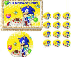 sonic the hedgehog cake topper sonic the hedgehog cake topper etsy