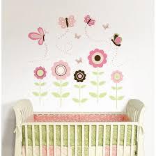wallpops butterfly garden wall art kit pink green target