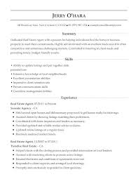 real estate resume templates entry level real estate resume sle template