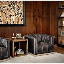 Upholstered Swivel Chairs For Living Room Maxx Swivel Chair With Black Upholstery By Four Hands Wolf And