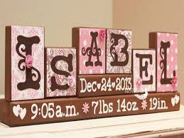 baby plaques personalized personalized baby name sign name letter blocks unique baby gift