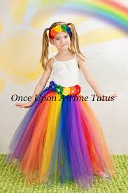 Girls Size 5 Halloween Costumes Long Rainbow Tutu Skirt Child Girls Size 12 Months 2t 3t