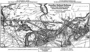Northern Canada Map by Steamtown Nhs Special History Study