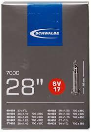 chambre a air 700x28c schwalbe chambre à air 700x28 42c 700x1 1 4 valve presta sv17