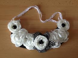 diy how to make a fabric flower bib necklace craftbrulee youtube
