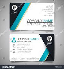 blue modern creative business card name stock vector 563255452