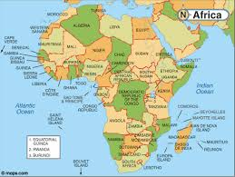 africa continent map 7 continents of the world and the 5 oceans list
