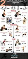 Bench Press For Beginners 2 Week Gym Workout Schedule For Beginners Exercise Pinterest