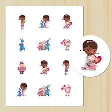 doc mcstuffins cupcake toppers diy printable doc mcstuffins 2 circles party tags cupcake