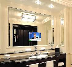 Mirror Tv Bathroom Get Up On The News While Getting Ready How To Fit Tv Into