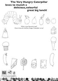 hungry caterpillar coloring pages colour hungry