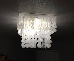 diy shell chandelier diy faux shell chandelier made with paper 5 steps with pictures