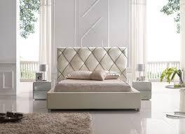Platform Bed Headboard Elegant Leather High End Platform Bed With Led Light Evansville