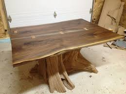 Slab Dining Room Table Natural Wood Dining Room Tables Shining Home Design