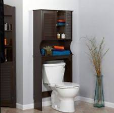Over The Toilet Storage Cabinets Bamboo Bathroom Space Saver Storage Simple Living Shelves Cabinet