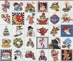 bucilla engelbreit ornaments counted cross stitch kit 86138