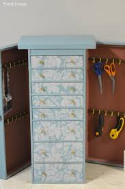 Making A Tool Cabinet Get Organized Turn An Old Jewelry Box Into A Diy Craft Organizer