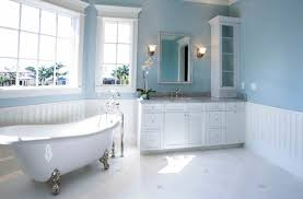 light blue green bathroom