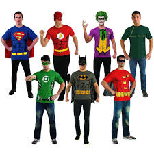 easy superhero costumes for men t shirts halloween fancy