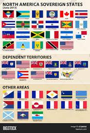 Flag Of Antigua Set Flags North America Sovereign Image U0026 Photo Bigstock
