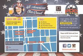 the 2014 all american bar crawl route map baltimore