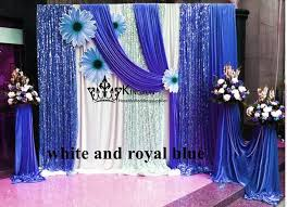wedding backdrop blue white and royal blue color 3m 3m wedding backdrop curtain with
