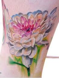 14 watercolor dahlia tattoos