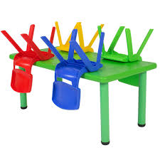 Multi Coloured Chairs by Best Choice Products Multicolored Kids Plastic Table And 4 Chairs Set
