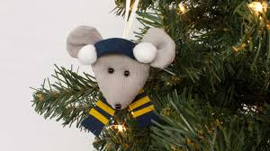 mouse ornament sewing project