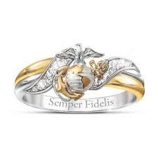 marine jewelry ring usmc womens embrace diamond ring