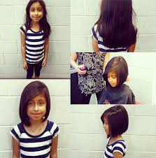 kids angled bob haircut a big transformation for such a small girl inverted bob by sam